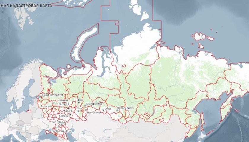 Вид публичной кадастровой карты