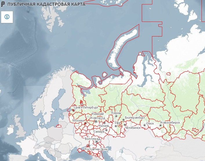 Информация на публичной кадастровой карте