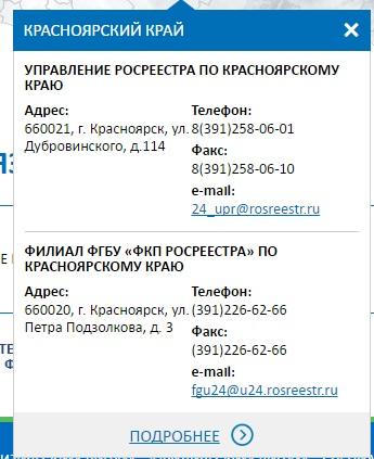 Контакты Росреестра Красноярского края