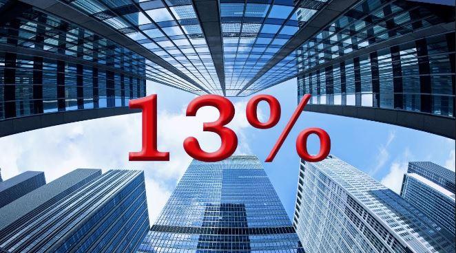 Уплата налога в размере 13%
