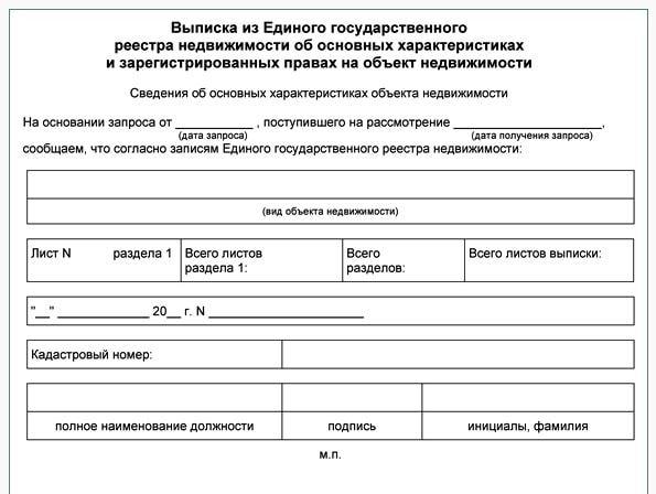 Выписка из Единого государственного реестра недвижимости об основных характеристиках и зарегистрированных правах на объект недвижимости